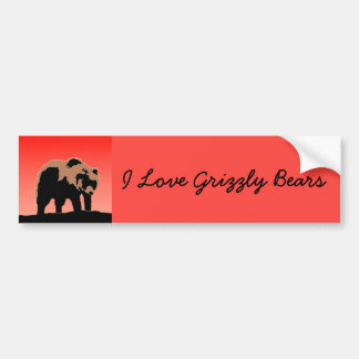 Grizzly Bear at Sunset Bumper Sticker