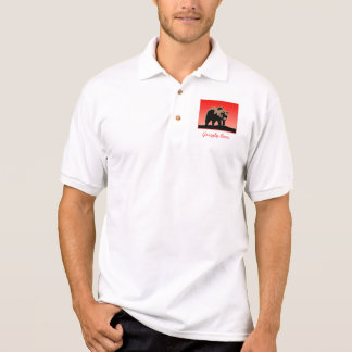 Grizzly Bear at Sunset Polo Shirt