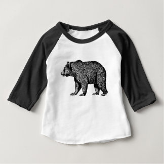 Grizzly Bear Baby 3/4 Sleeve Raglan T-Shirt