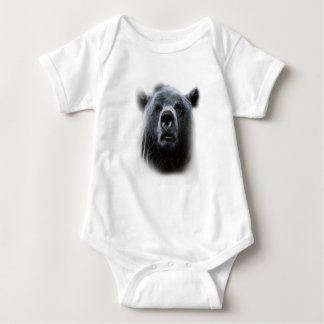 Grizzly Bear Confused Baby Bodysuit