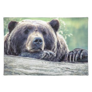 Grizzly Bear Design Placemat