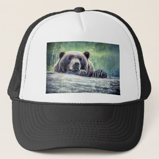 Grizzly Bear Design Trucker Hat