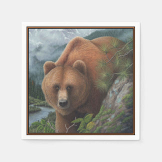 Grizzly Bear Disposable Napkins