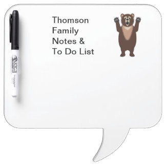 Grizzly Bear Dry Erase Whiteboards