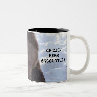 GRIZZLY BEAR ENCOUNTERS Two-Tone COFFEE MUG