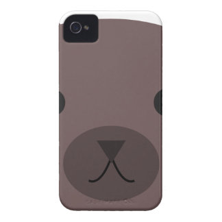 Grizzly Bear Face Drawing Case-Mate iPhone 4 Cases