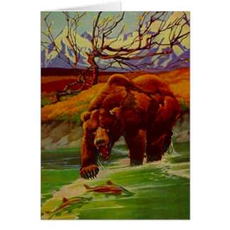 Grizzly Bear Fishing Wildlife Bears Gifts Gift Card