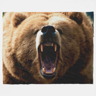 GRIZZLY BEAR FLEECE BLANKET