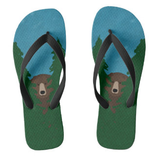 Grizzly Bear Flip Flops