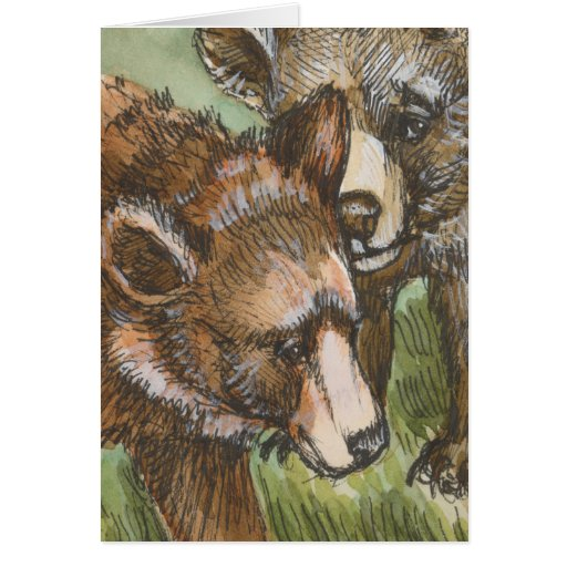 Grizzly Bear Friends Greeting Card