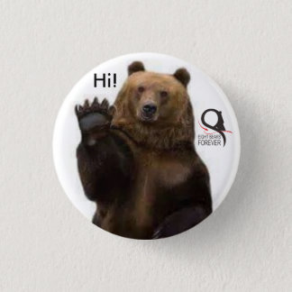 grizzly bear hi 1 inch round button