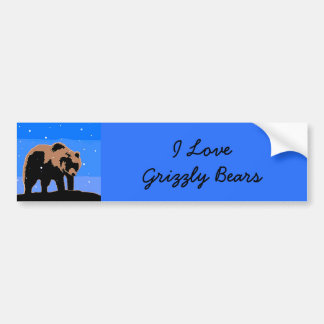 Grizzly Bear in Winter Bumper Sticker