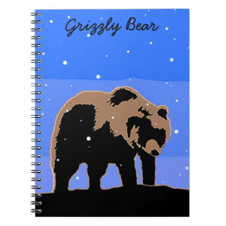 Grizzly Bear in Winter Notebooks