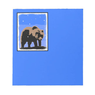 Grizzly Bear in Winter Notepad