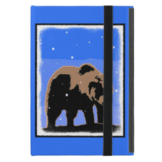Grizzly Bear in Winter  - Original Wildlife Art Cover For iPad Mini