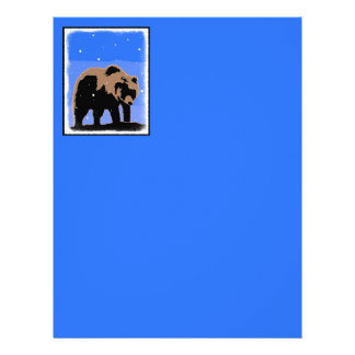 Grizzly Bear in Winter  - Original Wildlife Art Letterhead