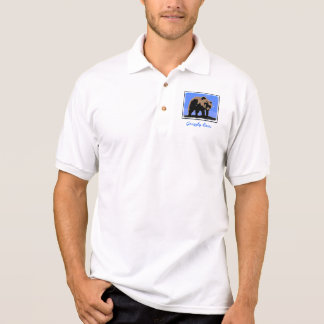 Grizzly Bear in Winter Polo Shirt