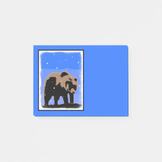 Grizzly Bear in Winter Post-it® Notes