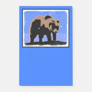 Grizzly Bear in Winter Post-it Notes