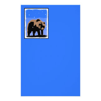 Grizzly Bear in Winter Stationery