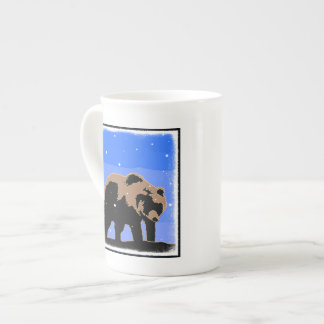 Grizzly Bear in Winter Tea Cup