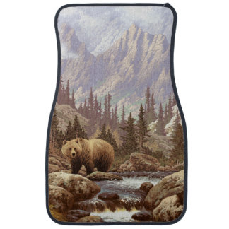 Grizzly Bear Landscape Front Car Mat