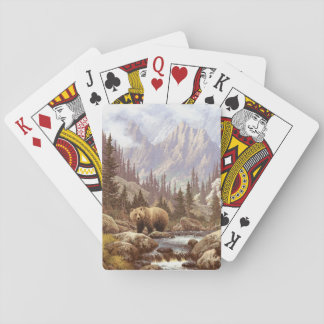 Grizzly Bear Landscape Playing Cards