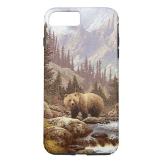 Grizzly Bear Landscape Tough iPhone 7 Plus Case