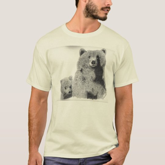 Grizzly  Bear mom and cub t-shirt