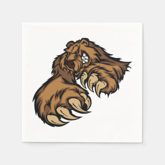 Grizzly Bear Paper Napkins