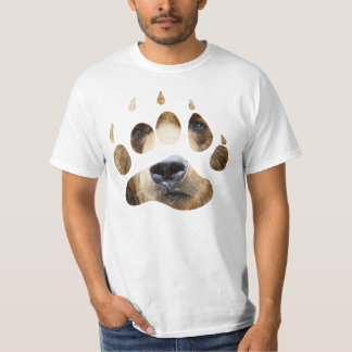 Grizzly Bear paw face tee