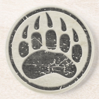 Grizzly Bear Paw Print Coaster