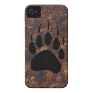 Grizzly Bear Pawprint Rustic Wildlife Case