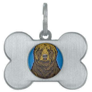 Grizzly Bear Pet Name Tag