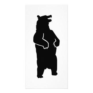 Grizzly bear custom photo card