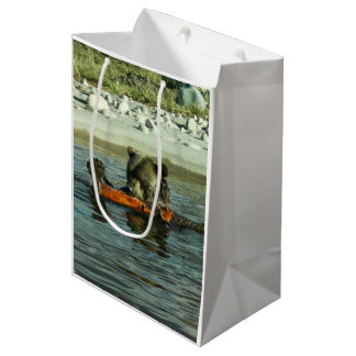 Grizzly Bear Playing Medium Gift Bag
