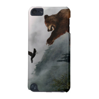 Grizzly Bear & Raven Wildlife Art Ipod Touch Case