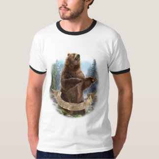 Grizzly Bear Ringer T-Shirt