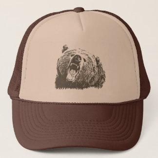 Grizzly Bear Roar Trucker Hat