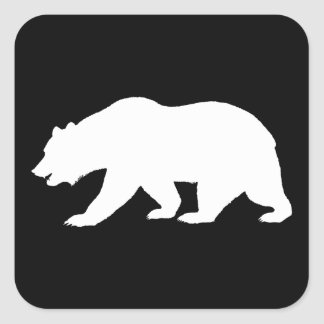 Grizzly Bear Square Sticker