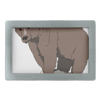 grizzly-bear-standing-on-rock-vector-clipart belt buckle