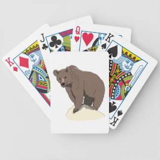 grizzly-bear-standing-on-rock-vector-clipart bicycle playing cards