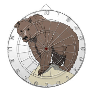 grizzly-bear-standing-on-rock-vector-clipart dartboard