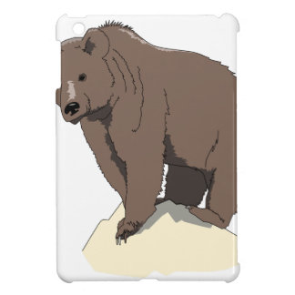 grizzly-bear-standing-on-rock-vector-clipart iPad mini covers
