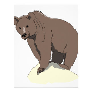 grizzly-bear-standing-on-rock-vector-clipart letterhead