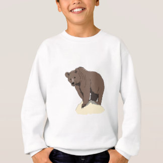 grizzly-bear-standing-on-rock-vector-clipart sweatshirt