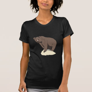 grizzly-bear-standing-on-rock-vector-clipart T-Shirt