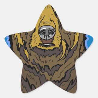 Grizzly Bear Star Sticker