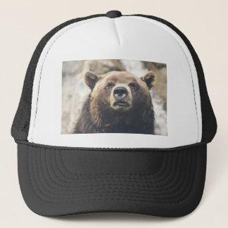 Grizzly bear trucker hat