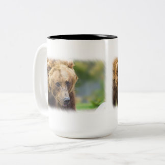 Grizzly Bear Two-Tone Coffee Mug